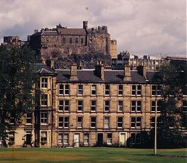 Glengyle Terrace with Edinburgh Castle behind