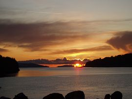 Sunset towards Easdale