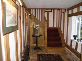 The private hall and staircase