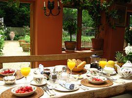 Breakfast in the garden room
